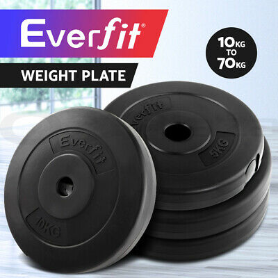 AU57.95 • Buy Everfit Barbell Weight Plates Set Gym Home Bench Press Fitness Exercise Training