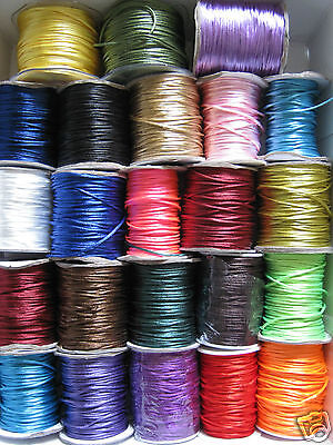 £2 • Buy 2mm RAT TAIL / SATIN CORD  SILKY RATTAIL KUMIHIMO Various Colours X 10m Or 20m
