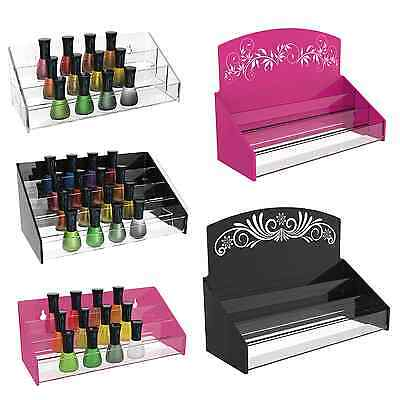 Nail Polish Varnish Acrylic Perspex Retail Display Stand 30 - 70 Bottles • 8.60£