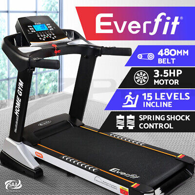 AU659.90 • Buy Everfit Electric Treadmill Auto Incline Home Gym Exercise Machine Fitness 480mm