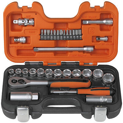 £56.03 • Buy Bahco S330 Socket Set - 1/4in & 3/8in Drive - 34pc - Bacho BAHS330, Barco