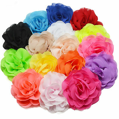 £1.59 • Buy 8cm Neon Brightly Coloured Fabric Flower Hair Clips Grips Bobbles