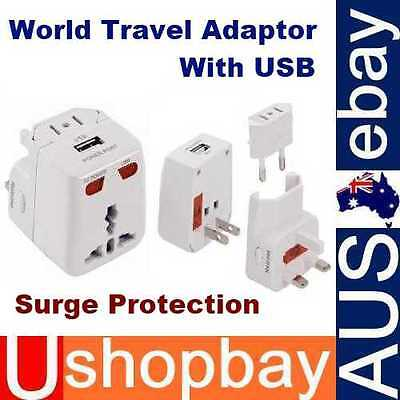 AU6.99 • Buy Travel Power Charger 5 In1 Travel Adapter Plug AU UK EU US With USB Port