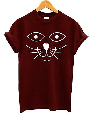 £8.95 • Buy Cat Face T Shirt Feline Meow Indie Tumblr Hipster #Selfie Swag Mens Womens Kids