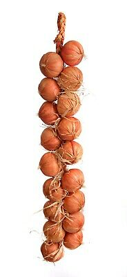 £14.99 • Buy Best Artificial 80cm Onion String ( 18 Onions ) Vegetable Realistic Display New