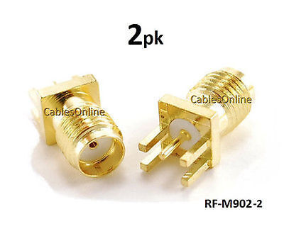 $4.90 • Buy 2-PACK SMA Female PCB Clip Edge Mount 1.6mm Connector RF Adapter - RF-M902-2