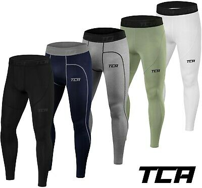 Mens Boys TCA Pro Performance Compression Armour Base Layer Thermal Under Tights • 14.99£