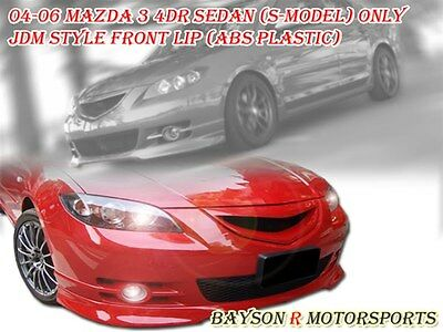 $109.99 • Buy JDM Style Front Lip (ABS) Fits 04-06 Mazda 3 4dr S-Model