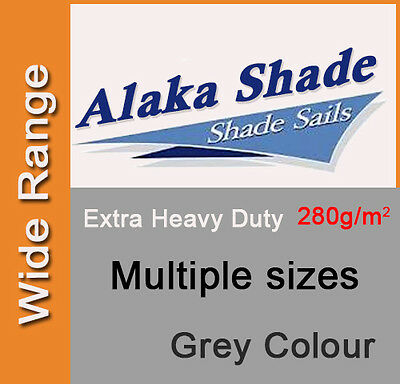 AU84.90 • Buy Extra Heavy Duty Shade Sail Shade Cloth Grey Gray Sun Triangle Square Rectangle