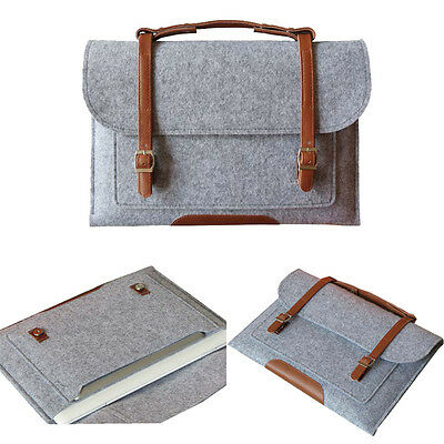 $11.09 • Buy Gray Woolen Felt Carry Sleeve Bag Case Cover For MacBook Air Pro 11 12  13 Inch