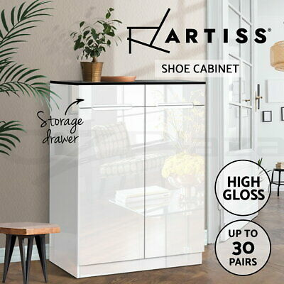 AU170.90 • Buy Artiss Shoe Cabinet Shoes Storage Rack Organiser Drawers 30 Pairs High Gloss