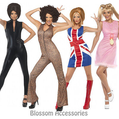 AU24.23 • Buy CL241 Women's 90's Icon Spice Girls Pop Star Fancy Dress Up Celebrity Costume