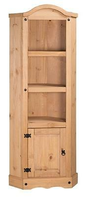 £81.99 • Buy Corona Corner Display Unit Bookcase Mexican Solid Pine By Mercers Furniture®