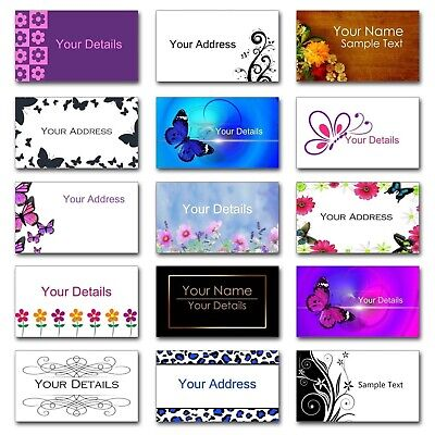 £2.99 • Buy Personalised Mini Colour Stickers/Address Labels - 65 Per Sheet 38.1x21.2mm Size
