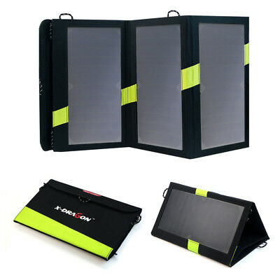 View Details Portable 20W Folding USB Solar Panel Battery Charger Power Bank Waterproof UK • 37.99£