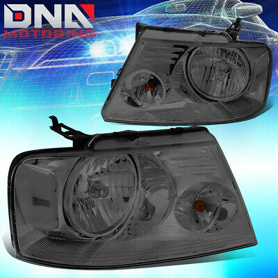 $75.88 • Buy For 2004-2008 Ford F150 Lincoln Mark Lt Pair Smoked Lens Clear Corner Headlight