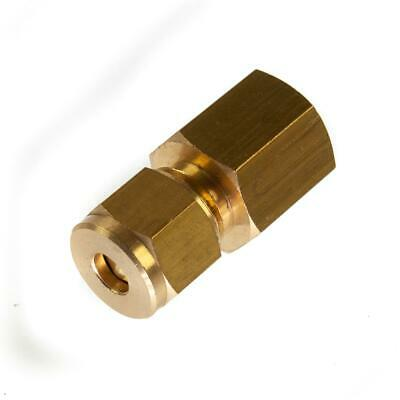 £1.90 • Buy 6mm X 1/4  BSP Female Compression Coupling Brass CxFI Pipe Fitting Thunderfix