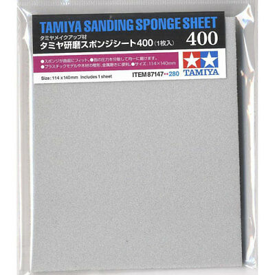 TAMIYA 87147 Sanding Sponge Sheet 400 - Tools / Accessories • 6.26£