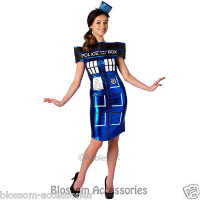 £27.37 • Buy CL324 Dr Who Doctor Tardis Police Box Fancy Dress Up Womens Adult Costume Outfit
