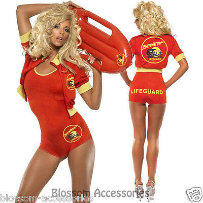 AU56.95 • Buy CL357 Baywatch Lifeguard Babe Costume + Float Beach Adult Fancy Dress Up 90's