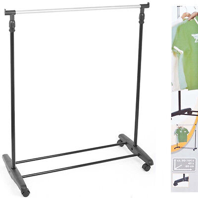 £13.95 • Buy Adjustable Mobile Clothes Coat Garment Hanging Rail Rack Storage Stand On Wheels