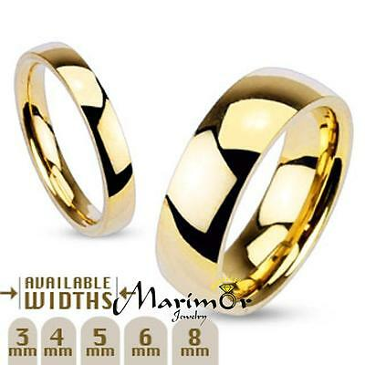 $7.68 • Buy 3mm - 8mm Wide 14k Gold Plated Classic Comfort Fit Wedding Ring Band Size 4.5-14