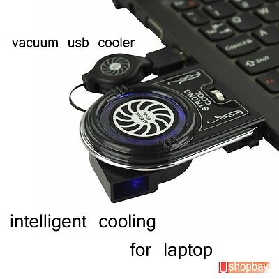 AU16.50 • Buy Laptop Vacuum Air Extract Blowing Wind Cooling Fan Notebook USB Cooler Pad