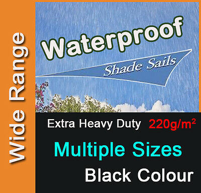 AU72.90 • Buy Heavy Duty Waterproof Water Proof Shade Sail Black Triangle Square Rectangle