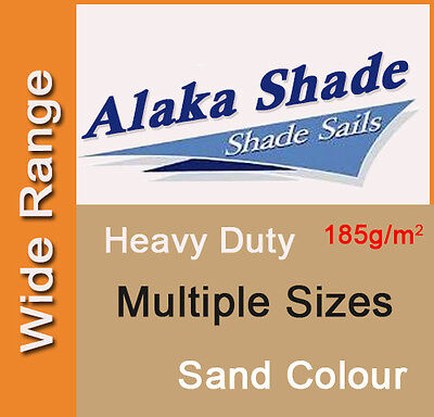 AU101.90 • Buy Heavy Duty Shade Sail ShadeCloth Sand Beige Sun Canopy Triangle Square Rectangle