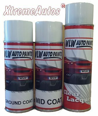 2 PACK 2K Car Body Paint BASECOAT AEROSOL TOUCH UP MIXED TO CODE READY FOR USE • 24.99£