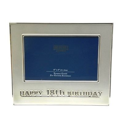 £6.49 • Buy Silver Plated Happy 18th Birthday Photo Picture Frame For Him Her Gift Present