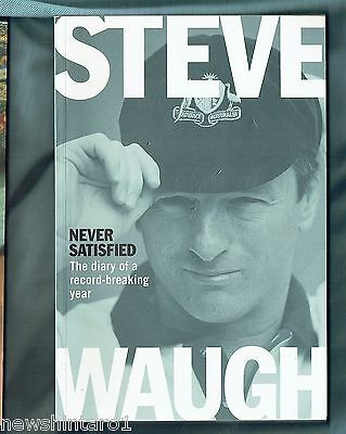 AU30 • Buy #ll.  Steve Waugh Signed Cricket Book - Never Satisfied