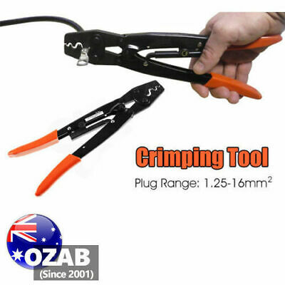 AU17.99 • Buy 1.25 - 16mm² Cable Crimper Anderson Plug Lug Battery Non Inslated Crimping Tool