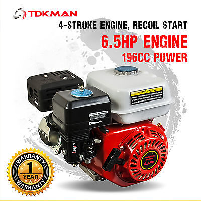 AU179.98 • Buy 6.5HP Petrol Stationary Engine Motor 4-Stroke OHV 19mm Horizontal Shaft Replace
