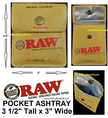£4.30 • Buy NEW! RAW Cigarette Rolling Papers Brand Pocket Ashtray 3 1/2  Tall X 3  Wide