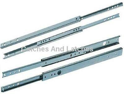 £5.29 • Buy Drawer Runners ALL METAL Slides 17mm Or 27mm Groove Ball Bearing ALL SIZES