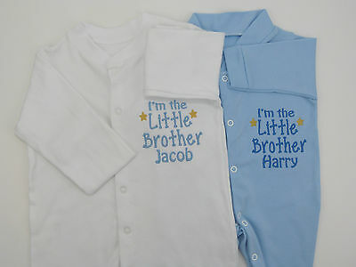 £11.99 • Buy Personalised I'm The Little Brother Baby Grow Vest Babies Clothes Cute Gift