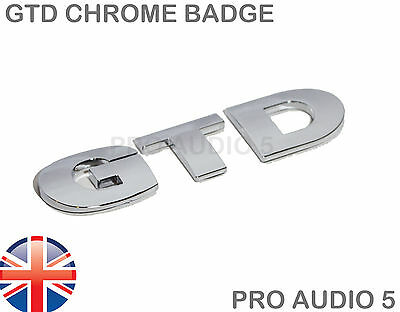 GTD Chrome Boot Badge - Turbo Diesl TDI Car Van Golf Badge - UK Fast Post • 4.45£