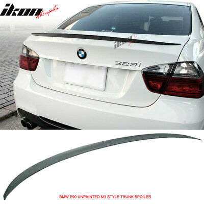 $38.99 • Buy Fits 05-11 BMW E90 3 Series 4Dr 330 335 328 M3 Type Trunk Spoiler Unpainted -ABS