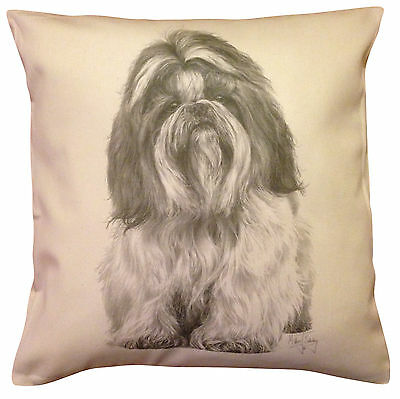 £15.99 • Buy Shih Tzu MS Cotton Cushion Cover - Choice Of Cream Or White - Perfect Gift