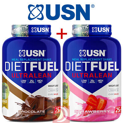 £53.99 • Buy 2  X USN Diet Fuel Ultralean Protein 2Kg ( High Meal Replacement )