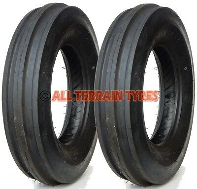 PAIR Of 6.00-16 6 Ply Vintage Classic Tractor 3 Rib Front Tyres 600-16 600x16 • 112.90£