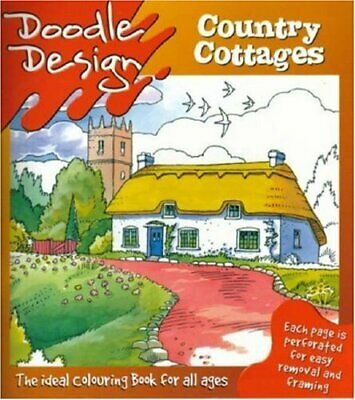 Doodle Design: Country Cottages Paperback Book • 5.49£