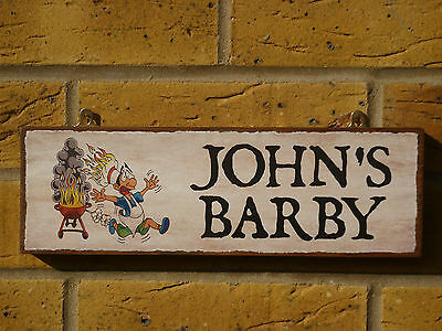£14.80 • Buy Personalised Barbecue Sign Bbq Sign Barby Sign Bbq Equipment Outdoor Eating Sign