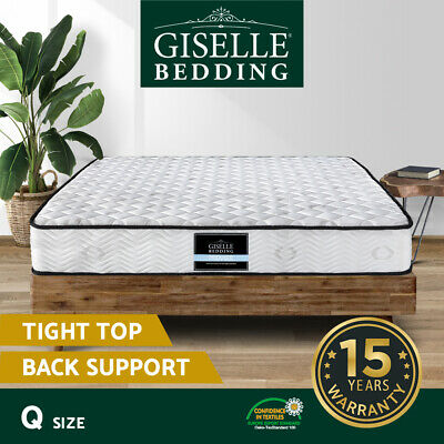 AU249 • Buy Giselle Bedding QUEEN Size Mattress Bed Extra Firm Pocket Spring Foam 23CM