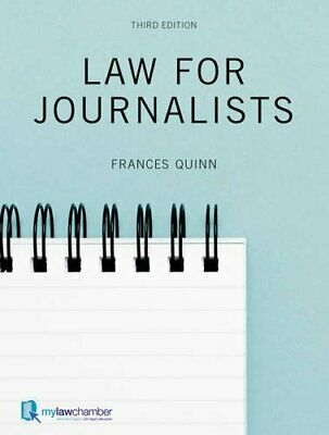 £5.99 • Buy Law For Journalists By Quinn, Frances Paperback Book The Cheap Fast Free Post