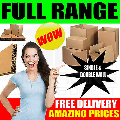 NEW 30 X LARGE Cardboard House Moving Boxes - Removal Packing Box • 6.35£