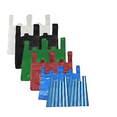 All Sizes & Colours Strong Plastic Vest Carrier Bags For Supermarkets Stalls New • 4.75£