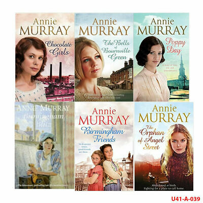 Annie Murray 6 Books Collection Set (Chocolate Girls,Bournville,Poppy,Blitz) NEW • 14.99£