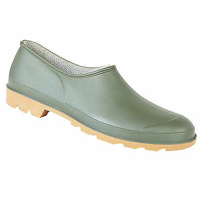 Mens Ladies Gardening Shoes Clogs Slip On Green Outdoors  / Welly Shoes 4 - 12 • 10.90£